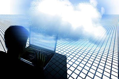 Electronic Photograph - Hacking The Cloud by Carol & Mike Werner