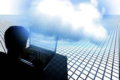 Hacking The Cloud Art Print by Carol & Mike Werner