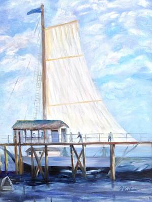 Painting - Hackney's Sailboat by Joanne Killian