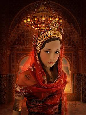 Queen Esther Digital Art - Hadassah by Casey Jones