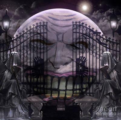 Grim Mixed Media - Hades Gates by Tammera Malicki-Wong