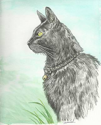 Texas Drawing - Hades Surveying His Domain by Sue Bonnar