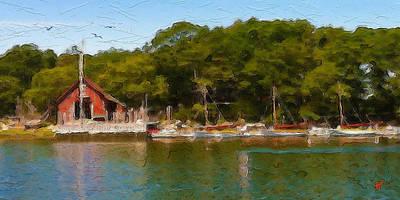 Cape Cod Digital Art - Hadleys Harbor by Michael Petrizzo