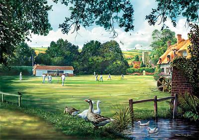 Hadlow Cricket Club Art Print by Steve Crisp