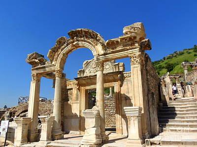 Photograph - Hadrian Temple Ephesus by Lou Ann Bagnall