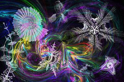 Haeckel Digital Art - Haeckel Sea by Lisa Yount