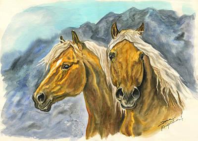 Painting - Haflinger Horses by Jana Goode