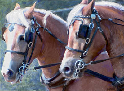 Caskey Wall Art - Painting - Haflinger Pair by Bethany Caskey