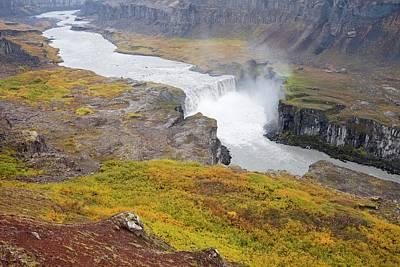 Dettifoss Photograph - Hafragilsfoss Waterfall by Ashley Cooper