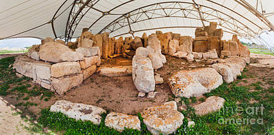 Maltese Photograph - Hagar Quim Temple Malta by Frank Bach