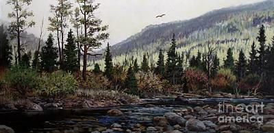 Hagerman Peak Art Print by W  Scott Fenton