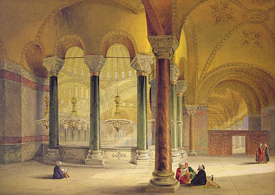 Byzantine Drawing - Haghia Sophia, Plate 11 The Meme by Gaspard Fossati