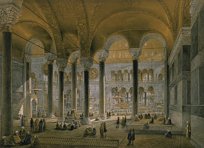 Byzantine Drawing - Haghia Sophia, Plate 6 The North Nave by Gaspard Fossati