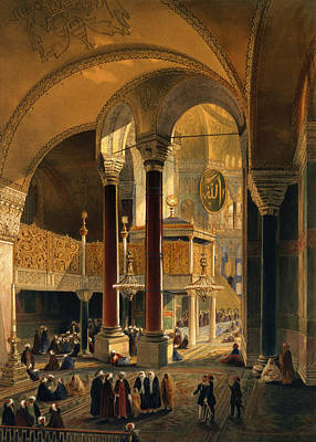 Byzantine Drawing - Haghia Sophia, Plate 8 The Imperial by Gaspard Fossati