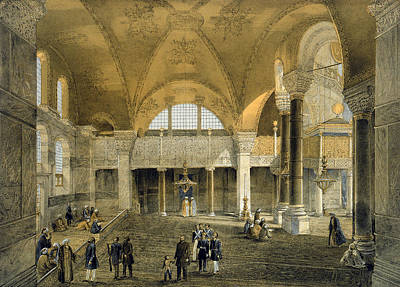 Haghia Sophia, Plate 9 The New Imperial Art Print by Gaspard Fossati