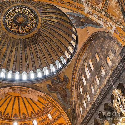 Abstract Shapes Janice Austin Royalty Free Images - Hagia Sofia Interior 04 Royalty-Free Image by Antony McAulay