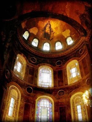 Golden Photograph - Hagia Sofia - Istanbul Turkey by Lilia D