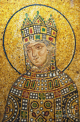 Byzantine Greek Icon Photograph - Hagia Sofia Mosaic 01 by Antony McAulay