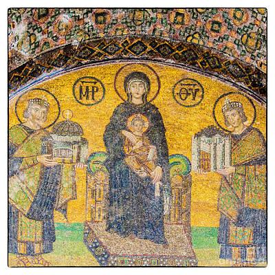 Hagia Sofia Mosaic 03 Art Print