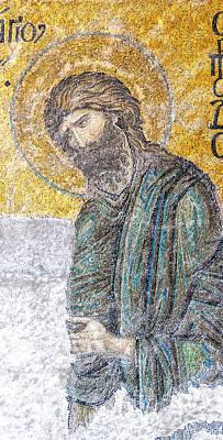 Byzantine Greek Icon Photograph - Hagia Sofia Mosaic 12 by Antony McAulay