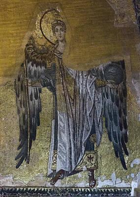 Byzantine Greek Icon Photograph - Hagia Sophia Angel by Stephen Stookey