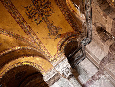 Photograph - Hagia Sophia Arch Mosaics by Rick Piper Photography
