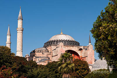 Hagia Sophia Blue Sky 01 Print by Rick Piper Photography