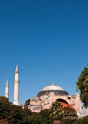 Hagia Sophia Blue Sky 02 Print by Rick Piper Photography