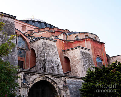 Photograph - Hagia Sophia Buttresses by Rick Piper Photography