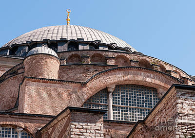 Hagia Sophia Curves 01 Print by Rick Piper Photography