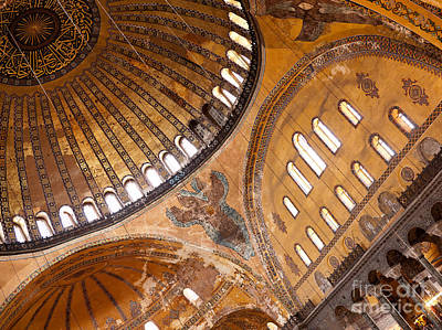 Hagia Sophia Dome 01 Print by Rick Piper Photography
