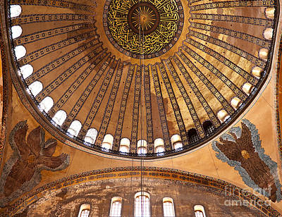 Hagia Sophia Dome 02 Print by Rick Piper Photography