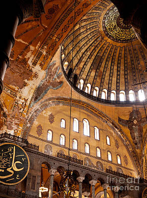 Hagia Sophia Dome 03 Print by Rick Piper Photography