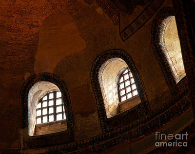 Photograph - Hagia Sophia Dome Windows by Rick Piper Photography