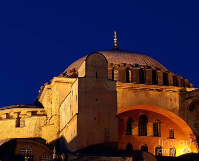 Hagia Sophia Evening Print by Rick Piper Photography