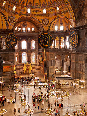 Hagia Sophia Interior 04 Print by Rick Piper Photography