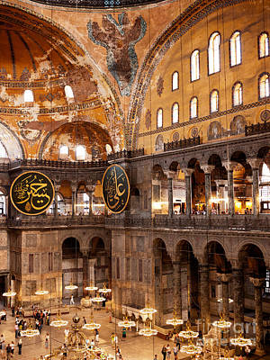 Hagia Sophia Interior 05 Print by Rick Piper Photography