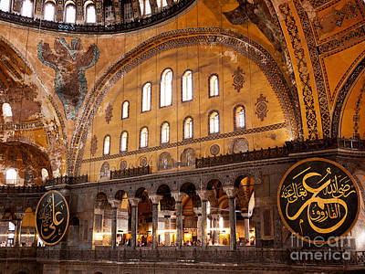 Hagia Sophia Interior 06 Print by Rick Piper Photography