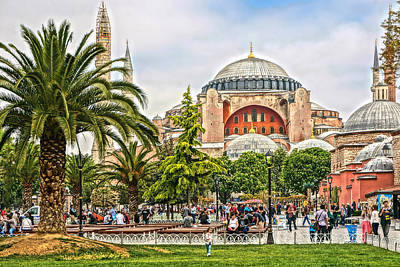 Photograph - Hagia Sophia Istanbul 2013 by Lutz Baar