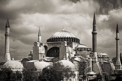 Photograph - Hagia Sophia Istanbul Black And White by For Ninety One Days