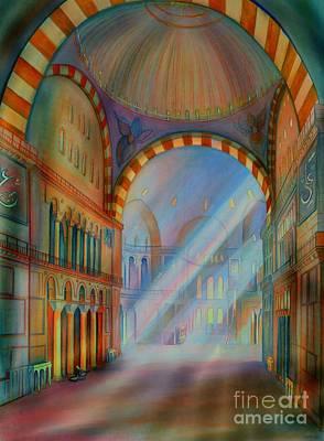 Byzantine Painting - Hagia Sophia Mosque Turkey by Seema Sayyidah
