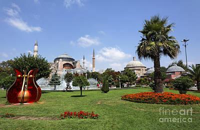 Hagia Sophia Museum And Gardens Istanbul Art Print by Robert Preston