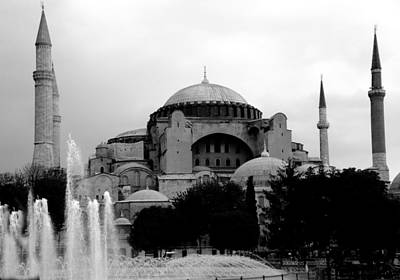 Photograph - Hagia Sophia Museum B And W  by Jacqueline M Lewis