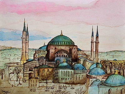 Painting - Hagia Sophia by Rafay Zafer