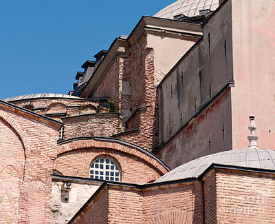 Hagia Sophia Walls 01 Print by Rick Piper Photography