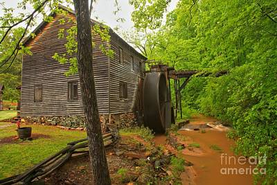 Hagood Grist Mill Creek Art Print by Adam Jewell
