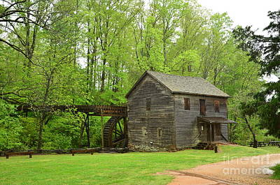 Photograph - Hagood Grist Mill Scene by Bob Sample