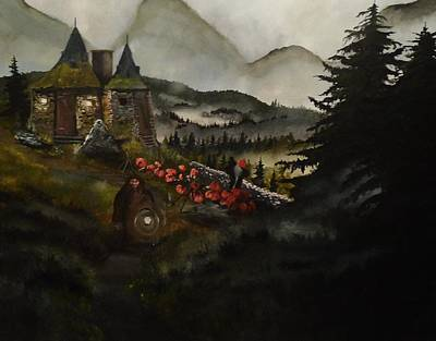 Mist Painting - Hagrid's Hut by Tim Loughner