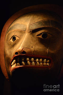 Haida Photograph - Tlingit Mask by Bob Christopher