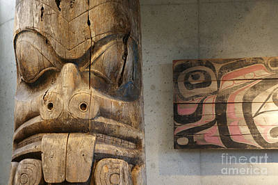 Photograph - Haida Carvings British Columbia Canada by John  Mitchell